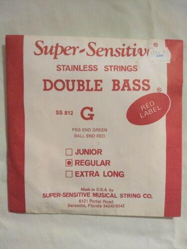 NEW RED LABEL SUPER SENSITIVE DOUBLE BASS Regular STRING G