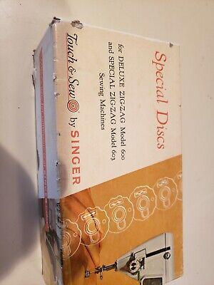 12 SINGER Special Discs Deluxe Zig-Zag Sewing Machine Models 600 603 In Box Set