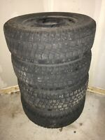 4 Avalanche studded Winter tires 235/70R16 w/rims