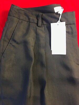 """BNWT IVY & OAK Women's Midnight Blue Tencel&Viscose Cropped Trouser W 31"""" EU 40"""