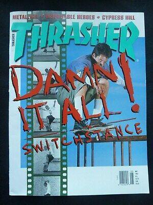 Thrasher Skateboard Magazine / May 1992 Tom Knox / Alan Petersen