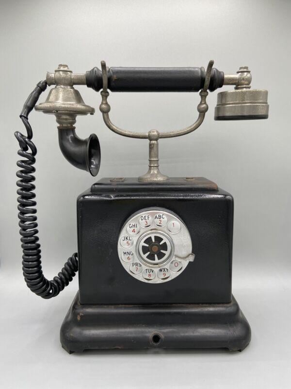 Antique 1906 Swedish Telegrafverkets Telephone, modified to fit U.S. Land Line