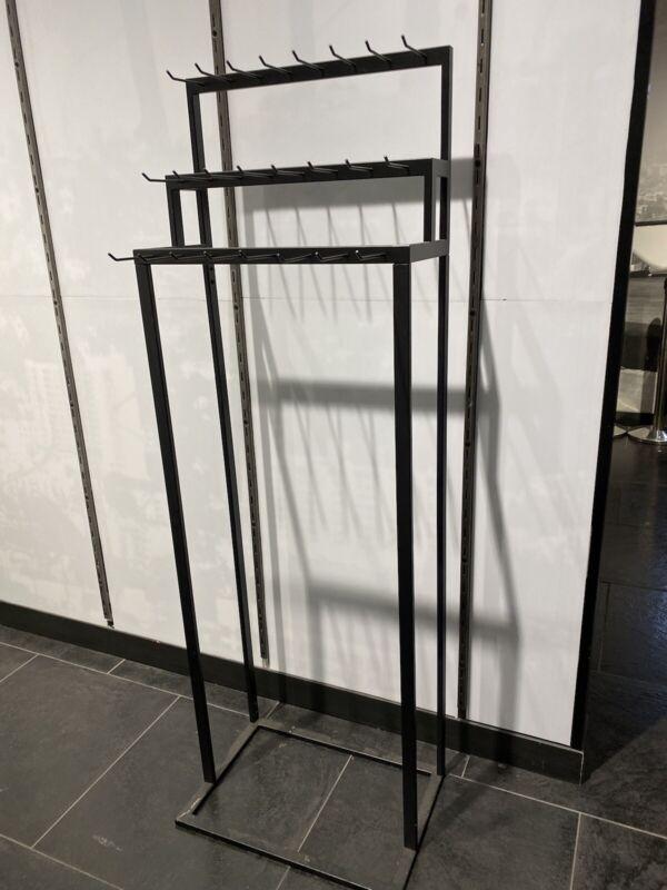 Store Retail Display Belt Stand W/ Peg Hooks