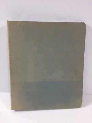 Vintage Vernon Royal Canvas Cloth Cover 3 Ring 1 Inch School Binder Light Blue