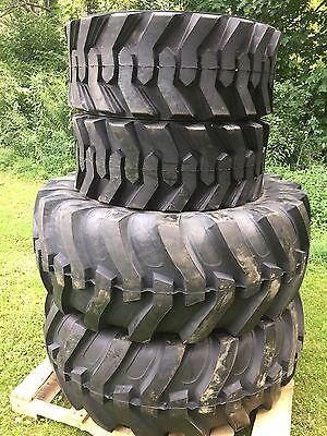 2 New 19.5l-24 2 14-17.5 Backhoe Tires R4 - 19.5lx24 - 4 Tire Combo