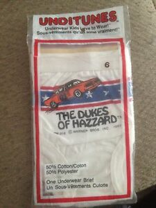 Dukes Of Hazzard child's size 6 Unditunes 1983