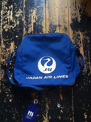 JAL Vintage Vinyl Airline Bag Japanese Airlines Retro
