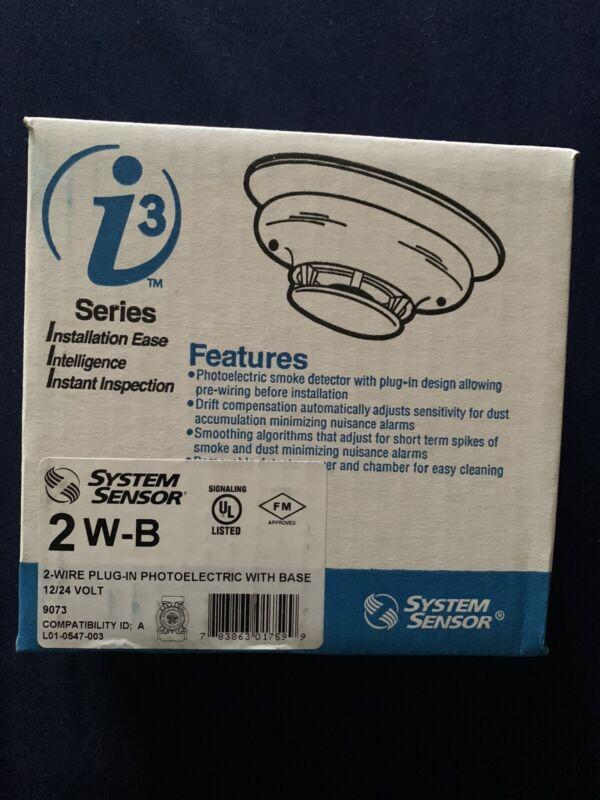System Sensor 2W-B i3 Series 2-wire, Photoelectric i3 Smoke Detectors