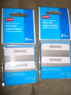 Staples Sticky Tabs 12 Months 25320 Lot Of 2