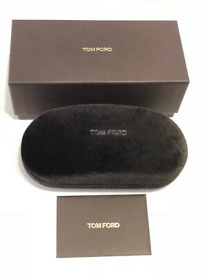 New Tom Ford Eyeglasses Sunglasses Large Hard  Case,Outer box + Cleaning (Tom Ford Sunglass Case)
