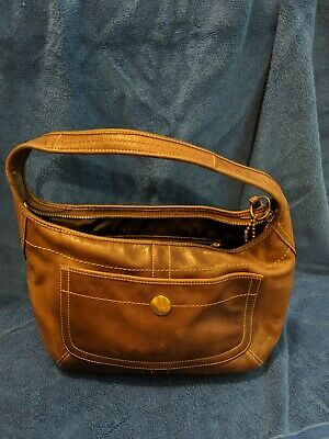COACH brown leather hobo purse