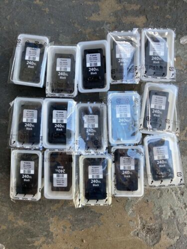 Lot of 15 used 240XL Black ink cartridges