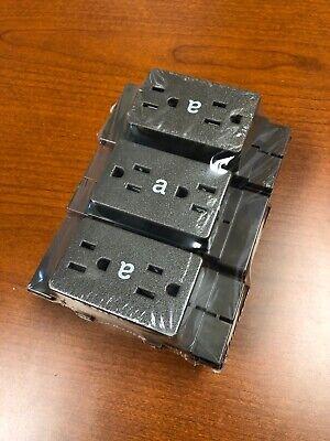 New 6-pk Herman Miller A1311.a Cubicle Duplex Receptacles Action Encore Bronze