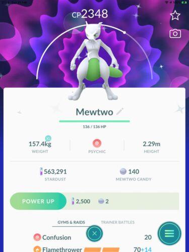 Pokemon Go Shiny Legendary Mewtwo Registered Or 30days Safe And Fast - $18.00