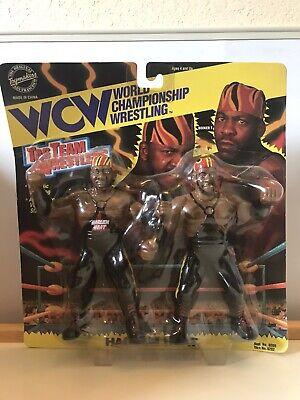 WWF WCW HARLEM HEAT BOOKER T STEVIE RAY 1994 WRESTLING FIGURES. Bent Box!!