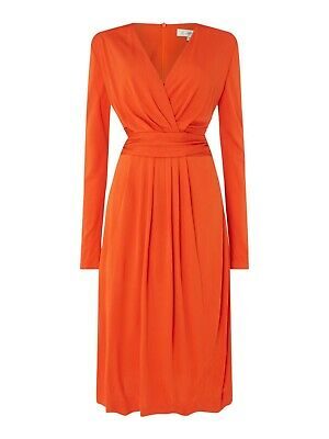 Issa red orange darcy pleat  dress size 12 new with tag