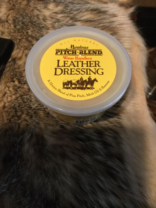 Montana Pitch Blend Leather Dressing Large 14 Ounce Tub Of Leather Conditioner!