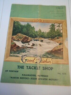 VTG 1953 Kalamazoo the Tackle shop Catalog Semi color for Heddon Pfleuger + W25
