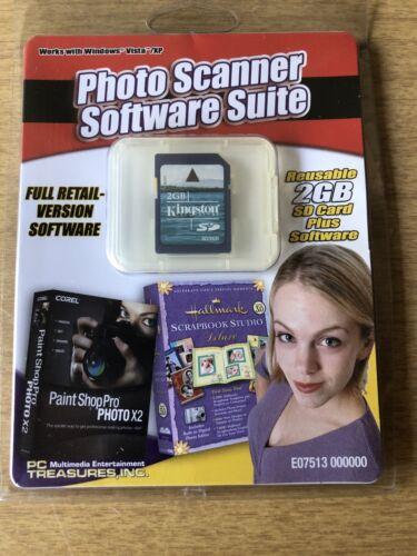 PC Treasures Photo Scanner Software Suite W/ Corel Paint Shop Pro Photo X2 etc..
