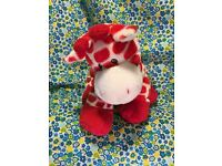 Ty Pluffies KISSER the Giraffe Beanbag Plush Stuffed Animal Toy w// Sewn Eyes