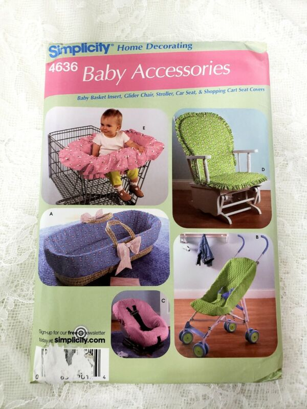 Simplicity 4636 Baby Shopping Cart Car Seat Stroller Cover Glider Sewing Pattern