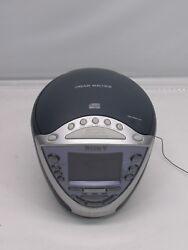 Sony Dream Machine ICF-CD843V CD-R/RW Alarm Clock Radio FM AM Weather