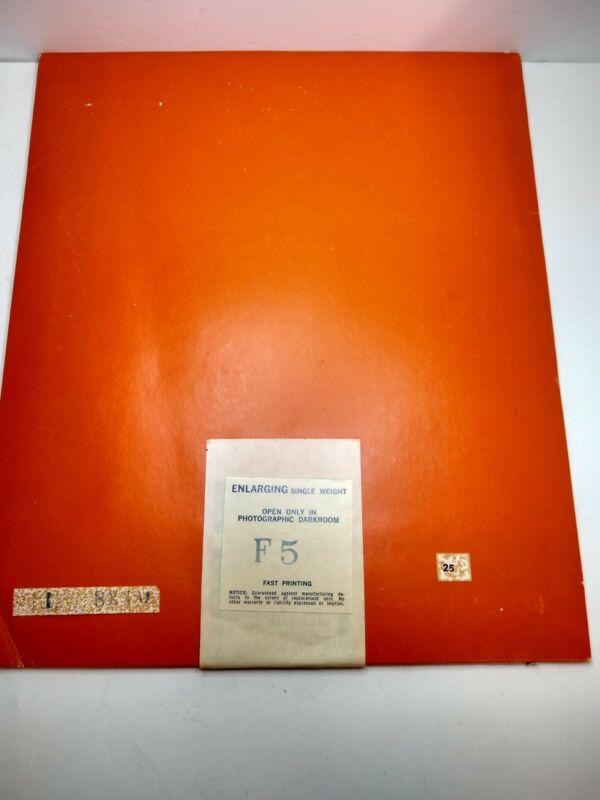 Vintage SEALED Agfa Brovira Enlarging Single Weight F5 Photo Paper 8x10 RARE