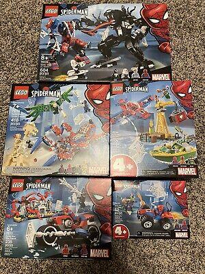Lego 76113 76114 76115 76133 76134 Spider Man Lot NISB
