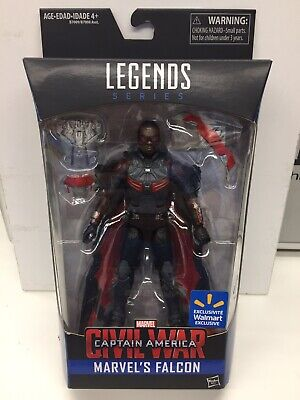 "Hasbro Marvel Legends 6"" WalMart Exclusive Civil War FALCON MISB"
