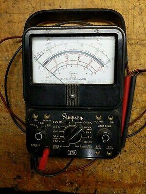 Simpson 270 2 Multi-meter