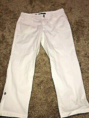 NINE WEST JEANS Women's White Roll Cuff Cotton Capri Pants  Sz 8/29 ~EXCELLENT~ Cuff Capri Pants Jeans