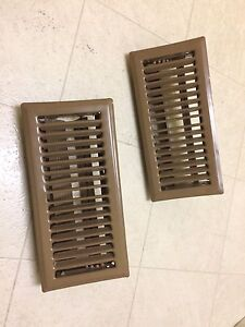"Floor Registers: qty 2, 4""x10"""