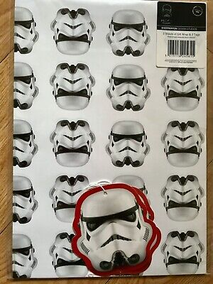 Stormtrooper/Star Wars Wrapping Paper (Inc 2 Sheets & 2 Tags)