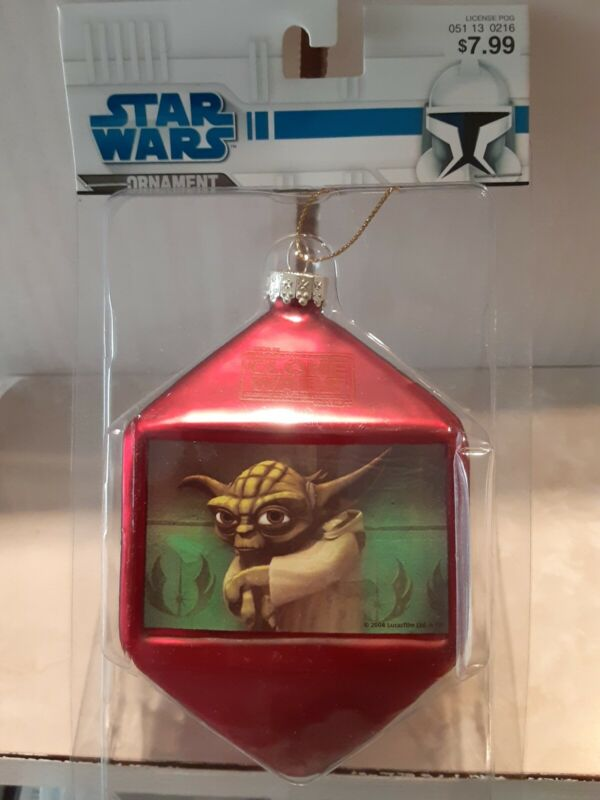 **New* RARE 2008 Star Wars The Clone Wars Christmas Ornament Yoda Storm Troopers