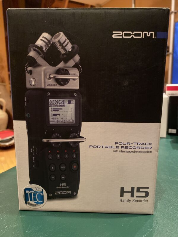 Brand New Zoom H5 Four-Track Portable Recorder With Interchangeable Mic System