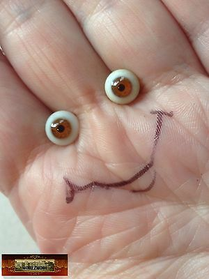 M00648 MOREZMORE Eyes Glass 5mm BROWN Small 5 mm Doll Baby Miniature T20