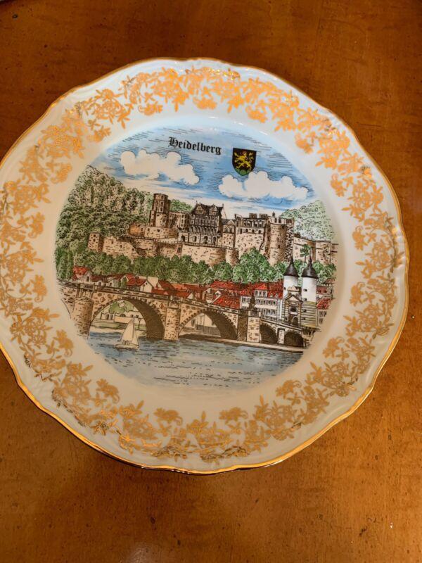 Vintage Heidelberg Decorative Plate Made in West Germany - HEIDELBERG, FRANKFURT