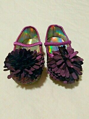 Size 3 Bellini Baby Girls Purple Sparkle Shoes