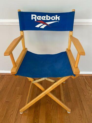 Vintage Rare Reebok 90s Flag Directors Chair Canvas Wood Basketball