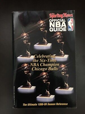 The Sporting News 1998-99 Edition Official NBA Guide - bulls 6x celebration