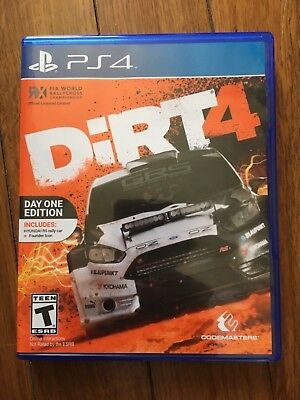 Dirt 4 DAY ONE EDITION (Sony PlayStation 4, 2017) Used