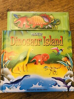 Dinosaur Island Magnetic Story Book And Play Scenes - Creative Learning Fun