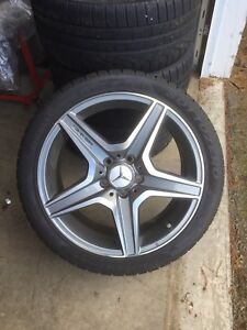 Rims and snow tires amg