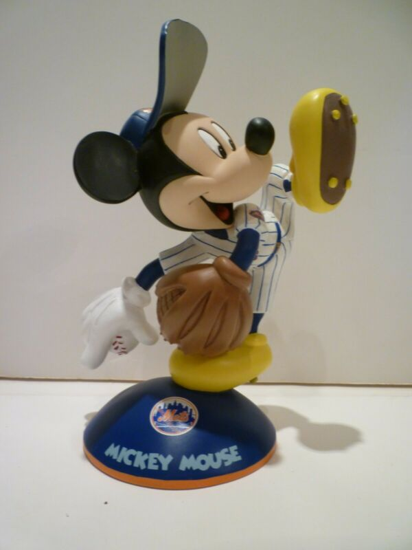 Danbury Mint DISNEY Mickey Mouse New York Mets Pitcher Figurine RARE!