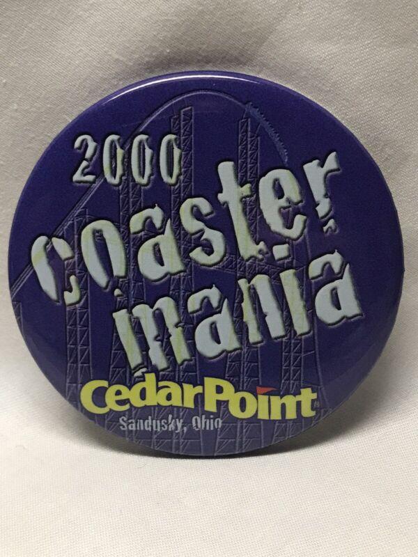 2000 Coaster Mania Millennium Force Button Pin Cedar Point Amusement Park Ohio