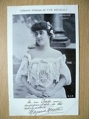 Postcards of Edwardian Theatre & Opera Stars: MERENTIE OPERA, Pub by Vin Desiles