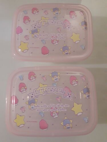Sanrio Little Twin Stars Lunch Food Container 2 Boxes