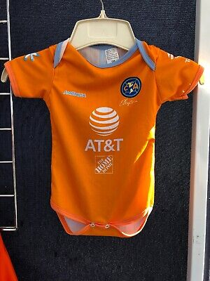 8efe124f613 club aguilas del america Orange Jersey Large 18-24 Months Oneies