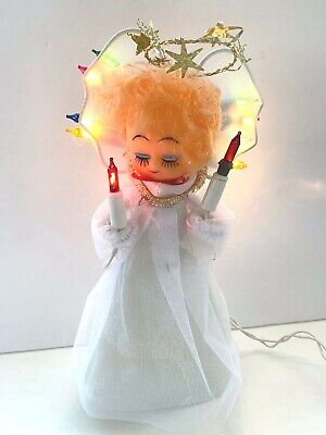 Vintage Christmas Angel Tree Top Topper Light Up Decoration