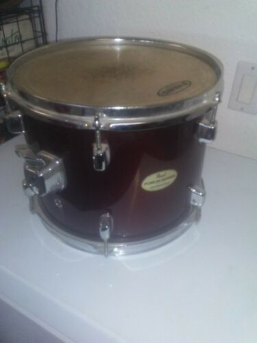 12 Pearl Forum Tom Drum 9x12 Wine Red Small Lugs  - $20.00